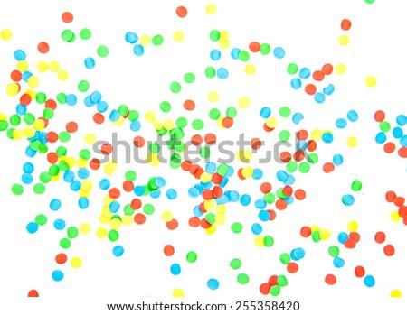 Confetti background texture - stock photo