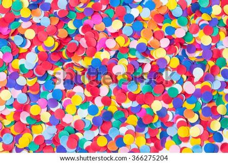 Confetti, colorful and round - stock photo