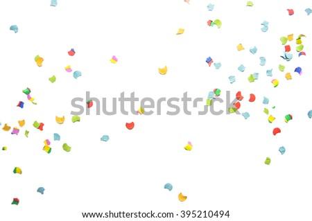Confetti on the floor - stock photo