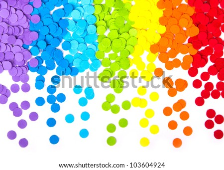 confetti on white background - stock photo