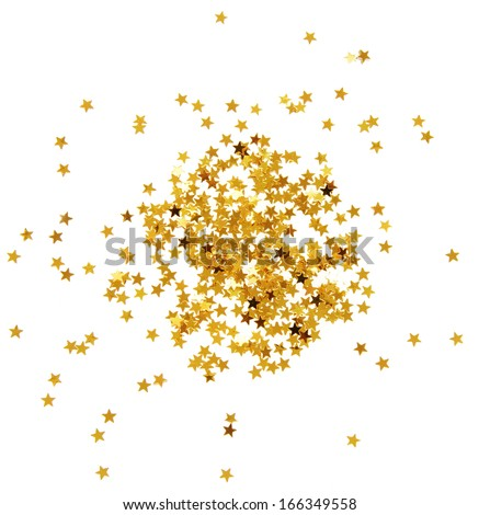 Confetti stars - stock photo