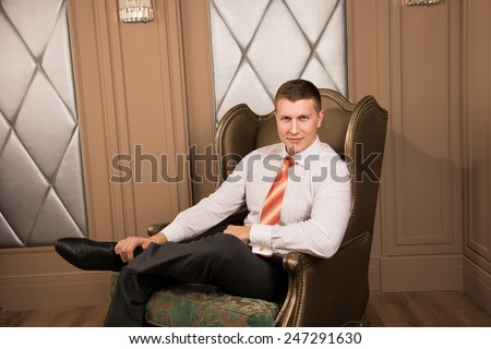 Man Legs Crossed Stock Images Royalty Free Images