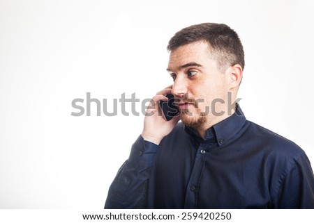 Confident Adult Man Talking on the Mobile Phone