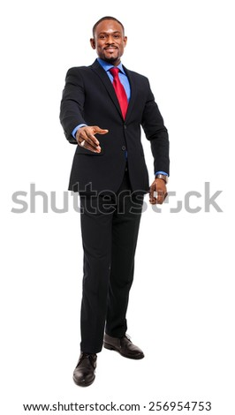 Confident african businessman