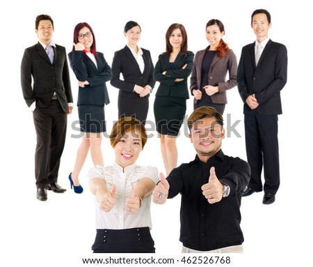 Confident asian business team