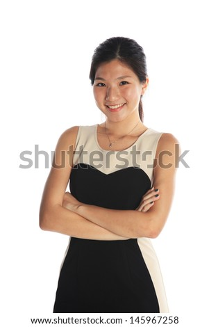 Confident Asian Professional and as Young Adult - stock photo
