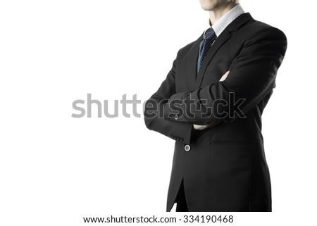 Confident Businessman Arm Cross Pose. Business Concept - stock photo