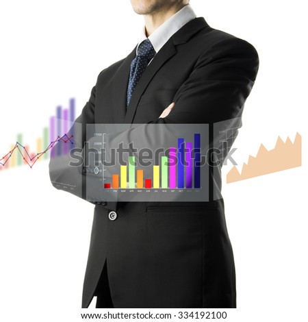 Confident Businessman Arm Cross Pose. Business Concept