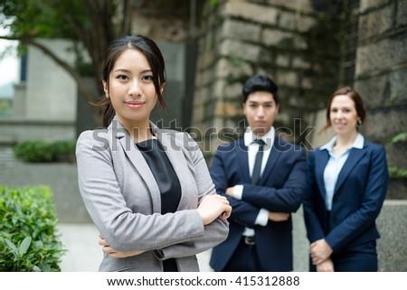 Confident businesspeople  - stock photo