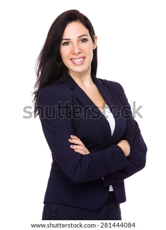 Confident businesswoman - stock photo