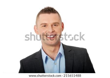 Confident formal business man portrait - stock photo