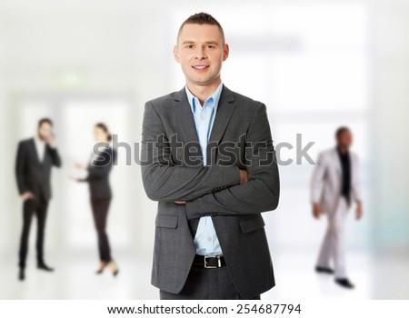 Confident formal business man portrait. - stock photo