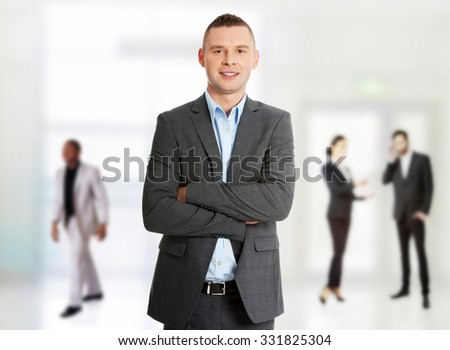 Confident formal business man portrait. - stock photo