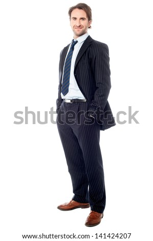 Confident handsome business executive