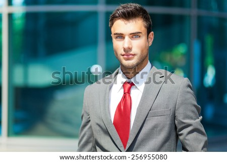 Confident male manager outdoor - stock photo