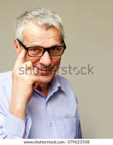 Confident mature businessman - stock photo