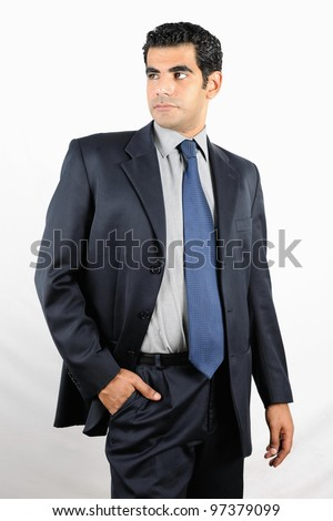 Confident Middle eastern business man - stock photo