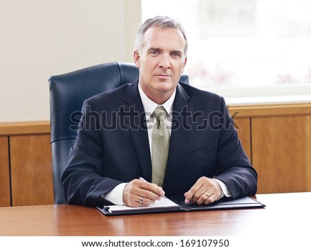 Confident Senior Businessman - stock photo