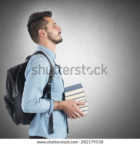 Confident student studying to achieve the objectives - stock photo