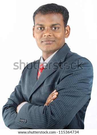 Confident Young Business Man - stock photo