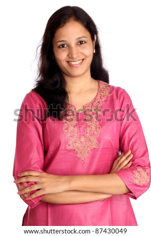 Confident young Indian woman - stock photo