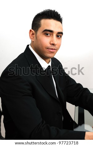 confident young middle eastern male - stock photo