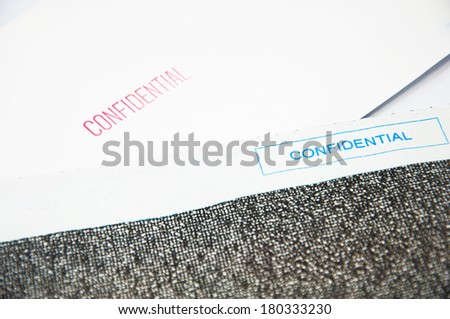 Confidential Letter - stock photo