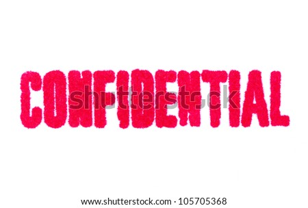 Confidential Stamp on White Paper - stock photo