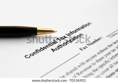 Confidential tax authorization