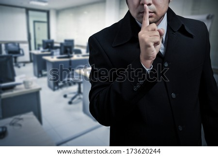 confidentiality - stock photo