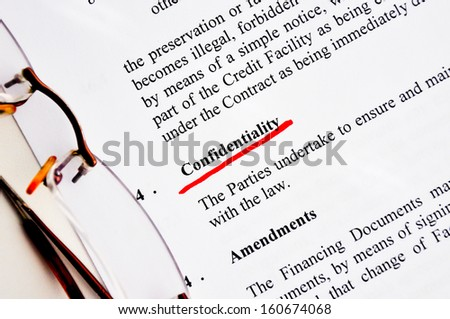 confidentiality concept in a contract