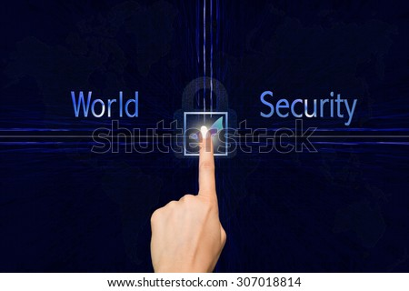 Confirm World Security - stock photo