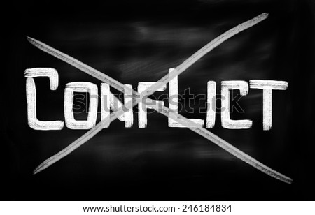 Conflict Concept - stock photo