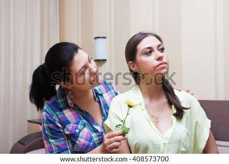 Conflict.Older sister puts up with younger