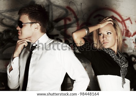 Conflict on the date - stock photo