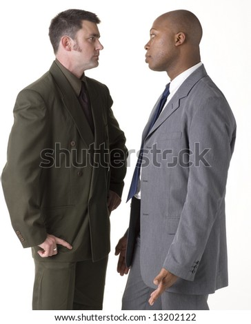 Confrontation between two businessmen