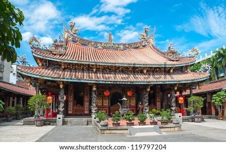 Confucius  temple in Taipei, Taiwan - stock photo