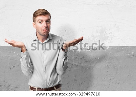 confused businessman doubting