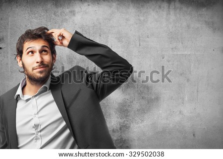 confused businessman thinking