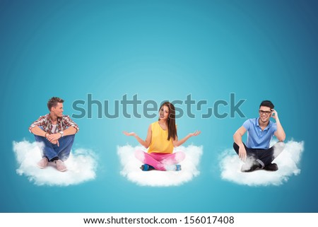confused fake doctor acting like a clown because he can't understand the results of a treatment - stock photo