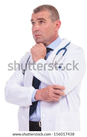 confused fake doctor acting like a clown because he can't understand the results of a treatment