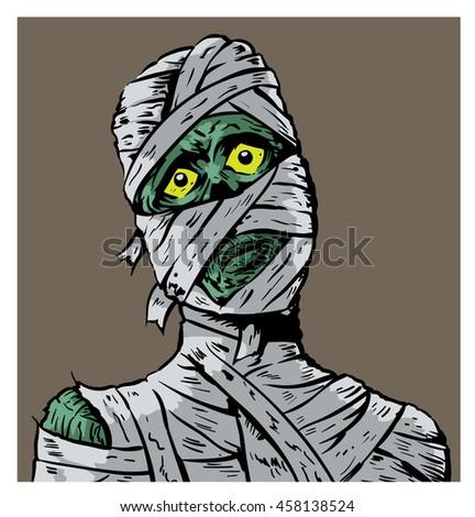 Confused Mummy - stock photo