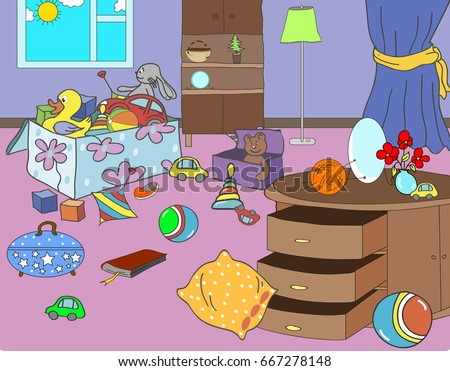 Childrens Room Stock Vector 84704143 Shutterstock