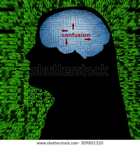 Confusion in mind - stock photo