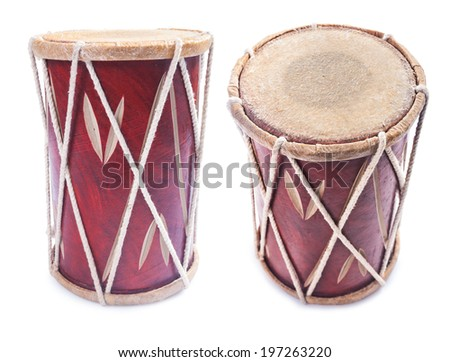 conga percussion drum instrument isolated - stock photo
