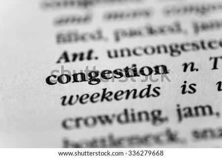 Congestion - stock photo