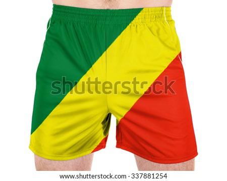 Congo. Congolese flag  - stock photo