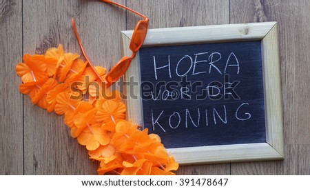 Congrats for the King written in Dutch for Kingsday in the Netherlands