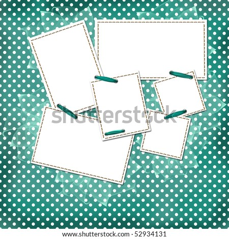 Congratulation green card with sheets for design