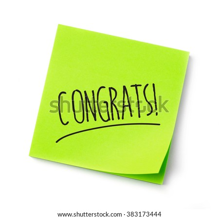 Congratulations adhesive note